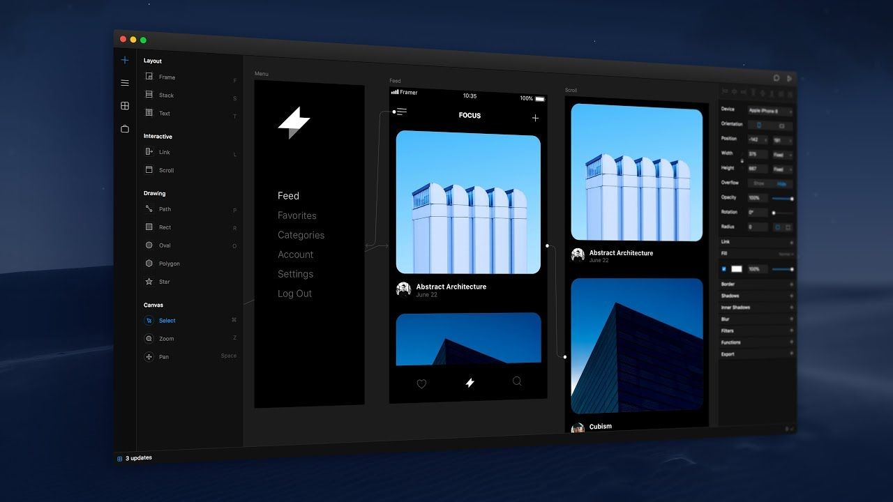Framer X vs ProtoPie vs Flinto vs Atomic - Prototyping Tools